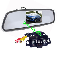"7 IR Waterproof Car Reversing Camera + 4.3"" Car LCD Mirror Monitor Kit with 5M cable Free Shipping"
