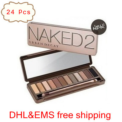 DHL&EMS Free Shipping, 24pcs/lot, 12 colors brand eye shadow powder eye shadow palette makeup set with brush(China (Mainland))