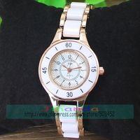 50pcs/lot JW-1449 Fashion Ladies Quartz Watch JW Bracelet White Color Bangle Dress Watch Rose Gold Color