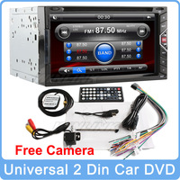 """2014 Gesture Control New Universal 6.2"""" Digital Touch Screen 2 Din Stereo Car DVD With Audio Radio Bluetooth Phone"""