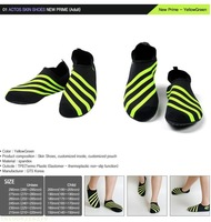 Free Shipping NEW ACTOS Skin Shoes / Aqua Shoes for your outdoor/indoor sports(free shipping)YELLOWGREEN