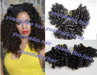 Grade 6A Funmi hair roamnce curls 3pcs #1b brazilian virgin 100% aunty funmi hair funmi curls for black women free shipping