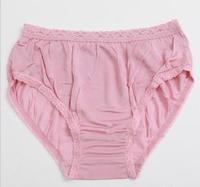 women pure silk panties 100% silk briefs for lady women underwear high quality plus size 3pcs/lot mix color