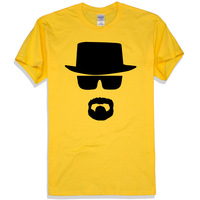 Breaking Bad Walter White Heisenberg,mens t shirts fashion 2014,clothing,men, fake mens designer clothes,true religious