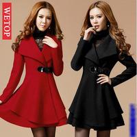 2014 casacos femininos sobretudo vestido de inverno Women's winter outerwear cashmere overcoat parka plus size down jacket