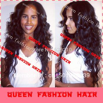 stock !!  heavy density fashion black women bazilian virgin human hair full lace wig& glueless full lace wig
