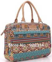 Pop Bohemia canvas computer laptop messenger bag ladies women handbag fashion briefcase for 13 14 15 15.6 inch notebook bags