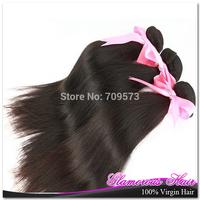 Hot Sell 3bundle /lot Brazilian virgin Hair Weaving Natural Straight Hair Princess hair