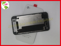 20pcs/lot Replacement Black and Wihte Glass Battery Back Housing Cover Assembly for  4 4G with Proctive Film as a Gift