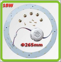 Drop shipping 4*dia265mm 18W 1800lm round led LED ceiling lights led down light techo del LED replace 45W old 2D tube
