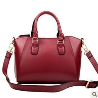 2014 New Arrival Women Genuine Leather Handbag Woman Fashionable Handbag Cross-body Bag Cow split Handbag High Capacity