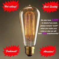 Fashion Incandescent Vintage Light Bulb,DIY Handmade Edison Bulb  Fixtures,E27/220V/40W 60*140(mm),lamp Bulbs For Pendant Lamps