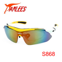 Panlees RX-able Prescription Sport Sunglasses Fishing Cycling Glasses with PC Insert 5 lenses Interchangeable Sun Glasses Strap