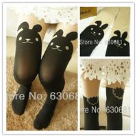 Sexy Rabbit  pantyhose knee stockings rib jacquard stocking for womens  velvet over-the calf velvet tights