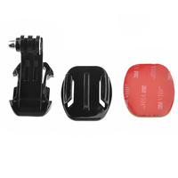J-Hook Buckle Mount + 3M Sticker + Flat Mount For GoPro Hero 2 3 Helmet Chest Strap Gopro accessories New Christmas Gift