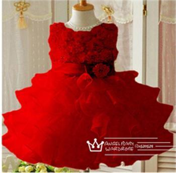 1pc Retail New 2015 summer flower girl dress, princess dress, sleeveless, fashion layed, with belt, pink/purple, Free Shipping