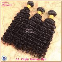 "peruvian virgin hair deep wave 3pcs 8""-30"" free shipping Realove hair weaves cheap peruvian curly hair Human hair extensions"