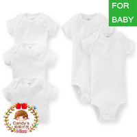 Carters Baby Boy Girl White Short Sleeve Bodysuit Infant Jumpsuit Summer Clothing Set 3-24M,YW, In store