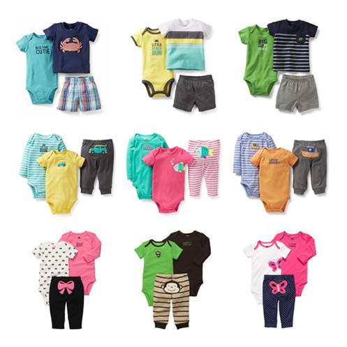 new 2014 Original carters clothing sets baby clothing carters girls boys bodysuits bebe infantil newborn pant baby suit(China (Mainland))