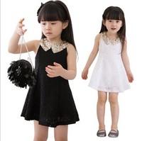 Hot Sale 2013 Summer New Children Clothing Baby Girls Clothes Girl Kids Tutu Dress child Children Dress Black/White Free Ship