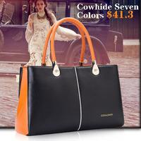 Coraldaisy New 2014 Spring Women  Leather  Handbags Fashion Shoulder Bag  Seven  Style Bump Colors Totes Women Messenger Bag