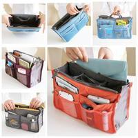 Beautician 12 Colors Nylon Cosmetic Makeup Bag Women's Fashion Organizer Bag Handbag Insert With Pockets Storage Bags
