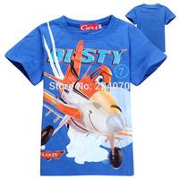 Free shipping summer cartoon Planes short sleeve kids t shirt minion boys t shirt children's clothing