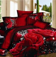 Fashion classic brand 3D Bedding 4pcs pure cotton satin bedding set /comforter set/ duvet cover set/ bed sheet(China (Mainland))