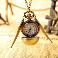5pcs/Lot Wholesale High Quality Vintage Bronze Punk Steampunk Steam Train Pendant Quartz Pocket Watch Chain Necklace Clock 19801