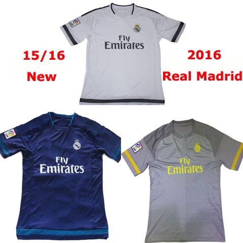 2016 Real madrid Soccer Jerseys CHICHARITO KROOS ROANLDO camisetas Real Madrid 2016 CARVAJAL RAMOS JAMES Soccer jersey 15 16(China (Mainland))