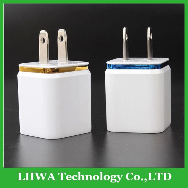 Universal US EU Plug 2 port dual USB AC wall charger power adapter For iPhone 5 5S ipad Samsung Galaxy s3 s4 S5 HTC 5V 2.1a usa(China (Mainland))