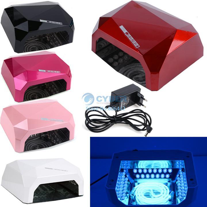 High Quality New 18W Nail Art Led UV Lamp Acrylic Gel Salon Curing Light Time Dryer Polish SPA Watt 220V White #6 SV002609(China (Mainland))