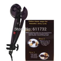 Bivolt ! AS SEEN ON TV purple  styling tools ,hair styler ceramic magic hair curler , pro modelador de cachos original box