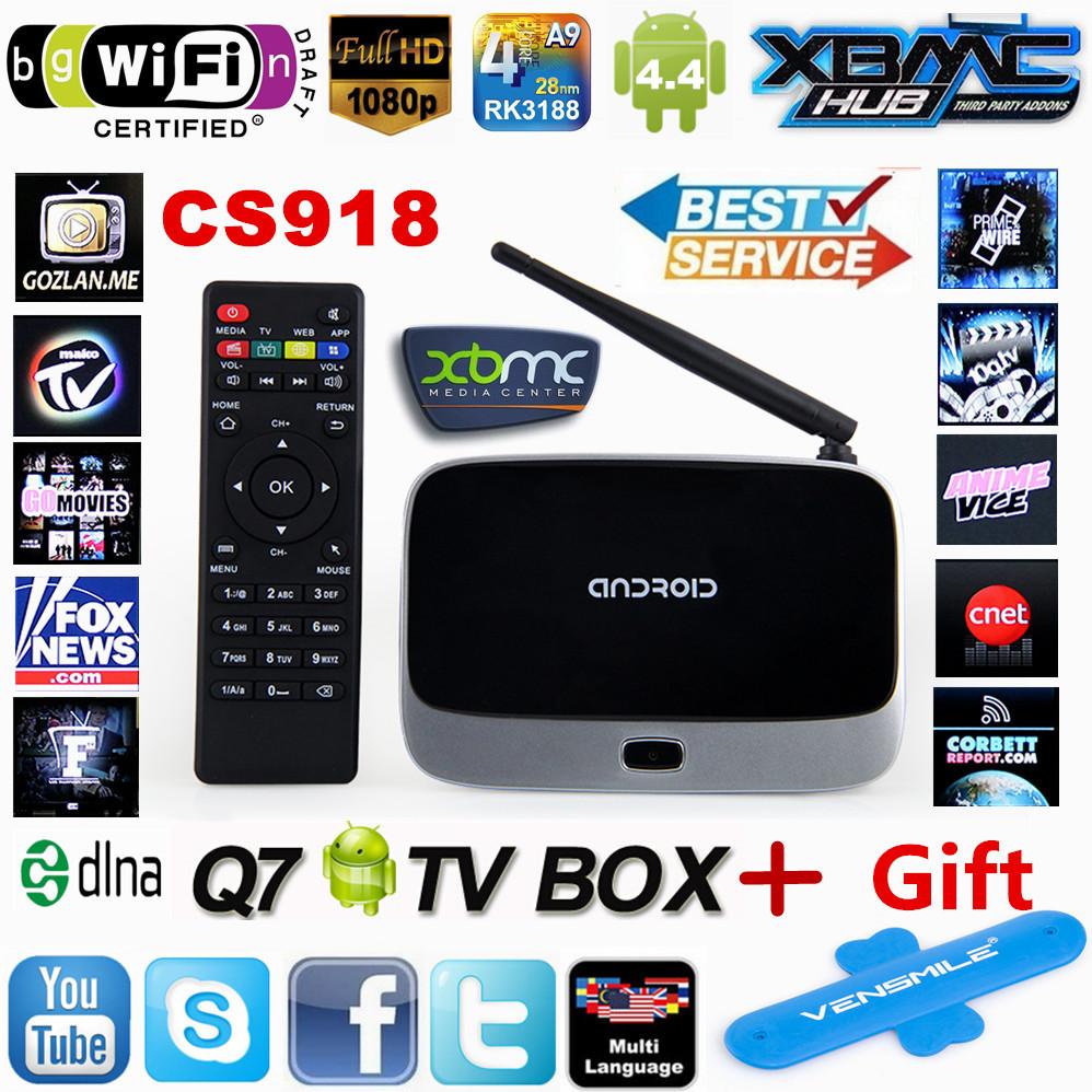 XBMC Fully Loaded ! Original Q7 MK888 CS918 Quad core 1G/ 8G RK3188 Android TV BOX smart tv Media Player Bluetooth WiFi Antenna(China (Mainland))