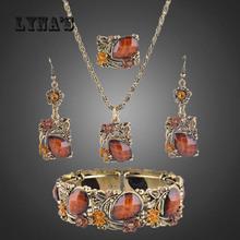 TOP Quality Brown Stone Jewelry Set Vintage Jewelry sets NE-053(China (Mainland))