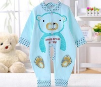 hot selling /free shipping 100% cotton toddler cartoon Long sleeve jumpsuit in infants Men and women baby clothes In stock