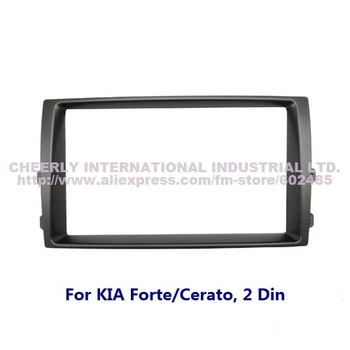 Double Din Car Audio Refitting Frame, Dash Kit, Installation Frame, Fascia, Radio Frame, DVD Panel for KIA Forte/Cerato, 2 Din