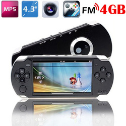 4.3 Inch PMP Handheld Game Player With 4GB MP3 MP5 Video FM Camera TV OUT Portable Game Console Multimedia Player(Hong Kong)