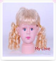 Free Shipping Plastic Children Mannequin Head,hair mannequin head