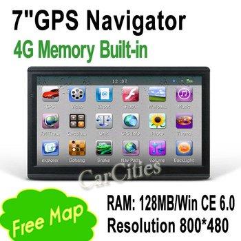 Original Edition 7 inch GPS Navigator 800*480 pixels DDR 128M 4G Memory Built-in FM Transmitter high quality car GPS Naivgator