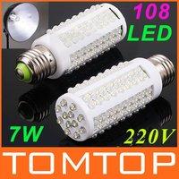 LED bulb e27 led light 220V  7W  White  Warm White light LED lamp 108 Spot light Energy saving lamps High Bright 360 degree