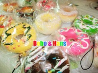 Cute cartoon Donut II squishy charm / mobile pendant Strap / Wholesale