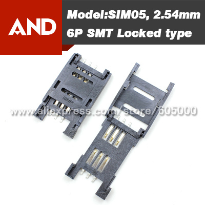 6PIN Simcard holder for GSM/GPRS module(China (Mainland))