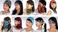 2014 Popular high quality 33g, (25*50cm) Multifunctional Printing Seamless Bandana,Seamless Scarfs for women,Lady's Scarves