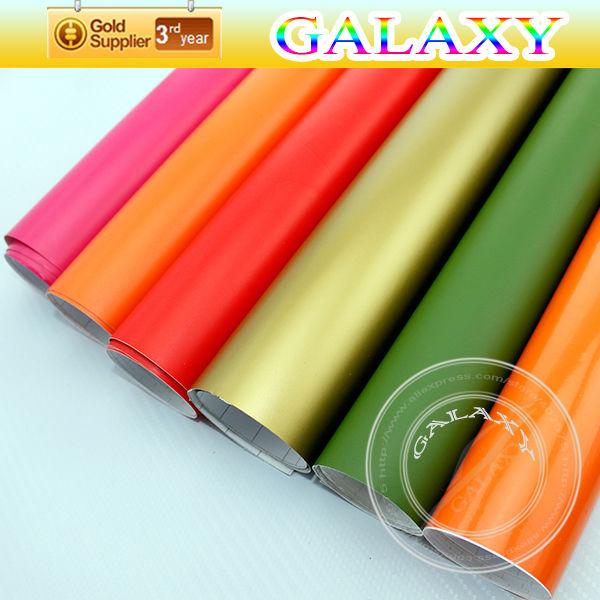 free shipping by fedex 152x3000cm air free bubble car body color change matte film / matte black car vinyl wrap sticker(China (Mainland))