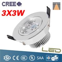Super Bright 3*3W LED downlight  Warm White Cool White AC85-265V Down Lamp LED Ceiling light Spotlight Indoor Home Lighting