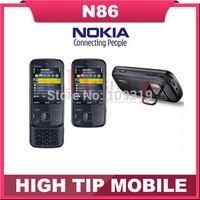 Russian keyboard support Nokia N86 original unlocked GSM 3G WIFI GPS 8MP Mobile phone Black&White Refurbished free shipping