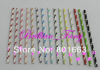 Hot!!! 3000pcs  Mixed 74 Color Polka Dot Stripe Paper Straws,Party drinking straws, Drinking Paper Straws Drinking Straws