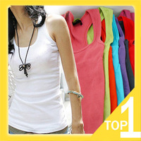FREE SHIPPING 2014 NEW HOT SALE summer ladies fashion long coarse thread cotton tank top vest  Y0136