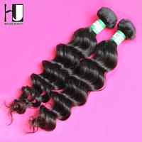 HJ Hair Products Unprocessed Virgin Brazilian Hair Human Hair Weaves Bundles 2pcs/lot Natural Wave